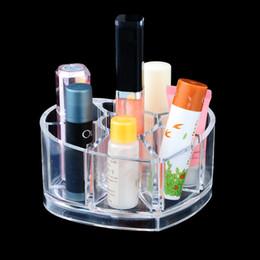 lipstick racks 2019 - IVYSHION 11.5x9.7x5.8cm Heart Shaped Lipstick Storage Box Cosmetic Makeup Organizer Jewelry Storage Box Rangement Rack H