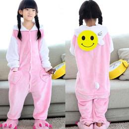 2525fa3ef Kids Kigurumi Flannel Hello Kitty Pajama Onesie Dots Cat For Children Animal  Cartoon Sleepwear Home Fantasy Halloween Costume J190520