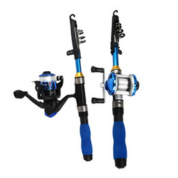 blue lures NZ - Fishing Rod Combo Full Kit 1.3m Fishing Rod Spinning Reel Set With Hooks Lures Barrel Swivels Storage Bag Kids