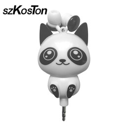 $enCountryForm.capitalKeyWord UK - Earphones 3.5mm Wired Retractable In-Ear Earphone Cartoon Cat Panda Earpiece Clip Headset MP3 Headset For iphone Xiaomi Earphone
