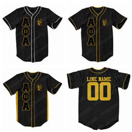 77164844c Custom Men's Women's Youth Alpha Phi Alpha Embroidered Greek Baseball Jersey  ANY NAME OR Any NUMBER GREY XS-5XL Free Shipping