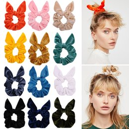 $enCountryForm.capitalKeyWord Australia - Women Fashion Hair Rubber Bands Rabbit ears Flannel Elastic band Hair Band Headband Headwear Hairband Hair Jewelry Gift Accessories