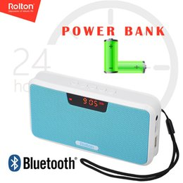 power bank music Australia - Rolton E300 Digital FM Radio HiFi Stereo MP3 Music Player Wireless Bluetooth Speaker Power Bank Support Micro SD TF Card