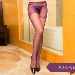 $enCountryForm.capitalKeyWord Australia - Sexy Lingerie Female Open File Stockings Pantyhose Large Size High Elastic Perspective Temptation Tights