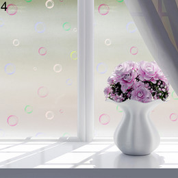 window frosting stickers Canada - Bathroom Butterfly Bubble Flower Frosted Decorative Privacy Window Sticker Paper Film Home Decor Stickers Posters