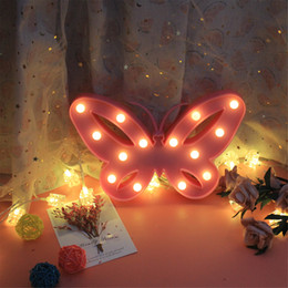 Mushroom Decor Australia - Colorful Changing Butterfly LED Night Light Lamp Home Room Party Desk Wall Decor