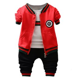 Letter Pattern For Shirts Australia - Baby Clothes for Boy Cotton Letter Pattern Long Sleeve Sweatshirt Tops Striped T-shirt Trousers Outfits