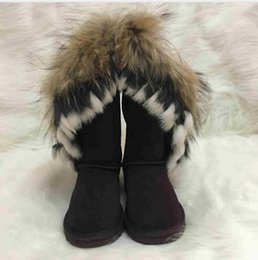 $enCountryForm.capitalKeyWord NZ - women boot Australian Boots Women Snow Boots Faux Fur Cow Leather Ivg Winter Shoes Knee High Boots Brand Ivg Size US4-14