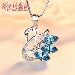 14k Twisted Chains Australia - 925 Sterling Silver New Style Simple Swan Pendant Necklace Female Joker Bone Chain Short Birthday Gift