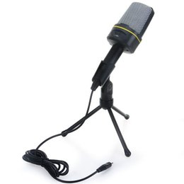 recording laptop 2019 - PC Microphone Computer Condenser Mic 3.5mm Plug & Play for PC Desktop Laptop for Online Chatting Recording discount reco