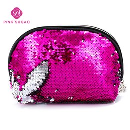 Designer branDs make up online shopping - Pink sugao makeup bag lights designer handbags cosmetic bag cases make up bag luxury travel organizer bags fashion brand card holder purse