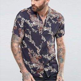 $enCountryForm.capitalKeyWord Australia - 2019 New Men's Slim fit Gold Flower Printed Shirts Male Short Sleeve Floral Shirt Men Basic Tops Casual Shirts Plus Size S-2XL