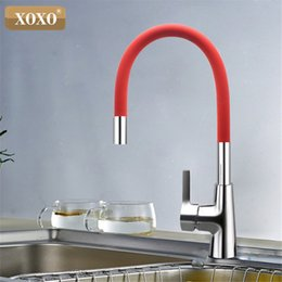 Hole Nose Australia - XOXO 360 New Arrival 7-color Silica Gel Nose Any Direction Rotation Kitchen Faucet Cold and Hot Water Mixer 1301R