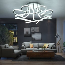 Chandelier rgb online shopping - Modern Led Ceiling Lights Art Flower Lamp Led Ceiling Chandelier For Living Study Room Bedroom Home Decoration Chandeliers lamp