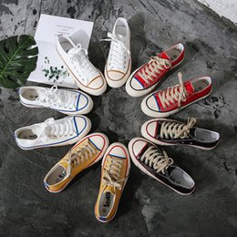 $enCountryForm.capitalKeyWord Australia - 2019 New Canvas Shoes for Female Students Korean Summer Black Cloth Shoes, Low Up White Ball Shoe Board, Leisure White Shoes