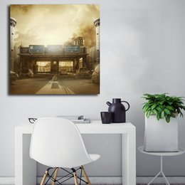 rainbow canvas prints Australia - Rainbow Six Siege Maps Border Operation Dust Line Art Canvas Poster Painting Wall Picture Artwork Print Home Bedroom Decoration