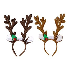 Christmas Ornament Costumes Australia - Kids Funny Reindeer Antler Headband with Bell Funny Party Hair Band Head Band Christmas Fancy Dress Costumes Accessory