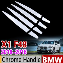 ca40b919e8a4 Car Chrome Stainless Steel Stickers for Door Handle Trim Set for BMW F48 X1  2016 2017 2018 2019 2020 Car Accessories Car Styling