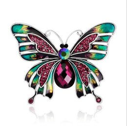 $enCountryForm.capitalKeyWord Australia - 2019 New Style European and American Style Court Vintage Style Drop Oil Butterfly Pins Brooch X1179
