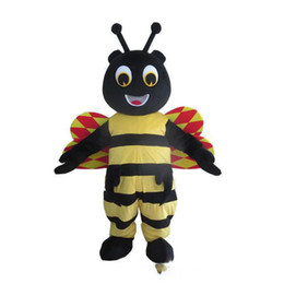 $enCountryForm.capitalKeyWord UK - 2019 hot new Custom Honeybee Mascot Costume Adult Size Costume With A Mini Fan Inside Head For Commercial Advertising