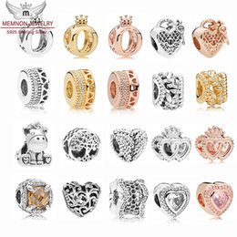 $enCountryForm.capitalKeyWord Australia - Autumn collection Interlocked Crown Hearts charms beads 925 Sterling Silver Icon of Nature Unicorn Charm fit Original Bracelet DIY jewelry