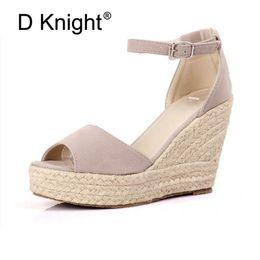 $enCountryForm.capitalKeyWord Australia - Big Size 32-44 New Summer Women's Sandals Peep-Toe Shoes Woman 9CM 11CM High-Heeled Platfroms Casual Wedges For Women High