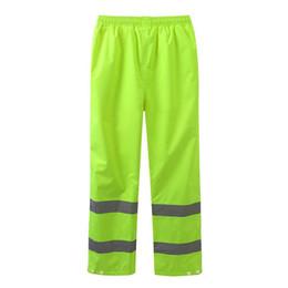 Vente en gros Imperméable Épais Oxford Tissu Pantalon De Pluie À Vélo Réfléchissant Route Pantalon Fluorescent Pantalon D'équitation Taille M-XXXL