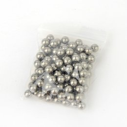 Опт Стальной шариковый рогатка 8 мм Углеродистый стальной шарик Высоко-яркая полировка Безмасляный наружный шариковый рогатка из 100 шт