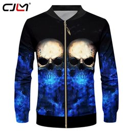 $enCountryForm.capitalKeyWord NZ - CJLM Dropshipping Jackets Men's Cool 3D Print Flash Light Skull Jacket Death Skulls Coats Sugar Skull Overcoat Zipper Tracksuits