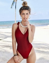 fa6bb4a19c New Women One Piece Summer Baby Suit High Quality Swimwear Solid Sexy  Swimsuit Hot Backless Bathing Suit