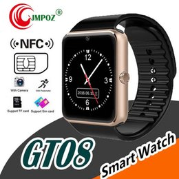 $enCountryForm.capitalKeyWord Australia - GT08 Bluetooth Smart Watch SIM Card Slot NFC Health Watchs for IOS Apple Android Smartphone Bracelet Smartwatch In retail package 20p lot