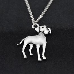 $enCountryForm.capitalKeyWord Australia - Vintage Stainless Steel Long Chain Great Dane Dog Pendant Chocker Necklace For Women Animal Lover Gift Pet Necklaces Men Fashion Jewelry