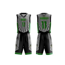 a5578b3c227e Customized Men Basketball jerseys Set Uniforms kids Sports clothes boys  college team basketball Shirt with Shorts suits DIY jersey