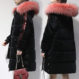 Women Winter coats extra long online shopping - Winter Women s down jacket down coat female outerwear extra long black T191118