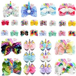 Real Braid Headband Hair Australia - jojo siwa girls hair accessories unicorn sequins headbands baby girls hairbands barrettes Flower Mermaid Kids Hair Sticks jojo siwa bows