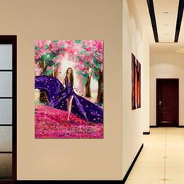 $enCountryForm.capitalKeyWord Australia - Wall Art Poster Modular Canvas HD Prints Paintings 1 Piece Beautiful girl Cherry Blossom Flower Pictures Framework