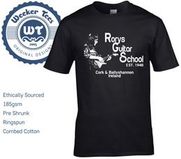 Guitar Fashion Australia - New Rory Gallagher Tribute T Shirt, Rorys Guitar School - size Ireland Fashion Short Sleeve Printed funny T-Shirt