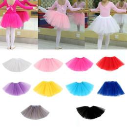 d9268f2d5 Children Kids Girl Three Layered Ballet Dance Tutu Skirt Classic Solid  Color Mini Pleated Dress Elastic Party Petticoat
