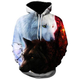 d88f3b59ee2d men clothes 2019 Wolf Printed Hoodies mens 3d Hoodies Brand Long Sleeve  Sweatshirts Jackets Quality Pullover Tracksuits Coat top