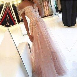 $enCountryForm.capitalKeyWord Australia - New Elegant Off the shoulder Lace Appliques Tulle Evening Dresses Party Prom Dresses Formal Gowns Plus size Long