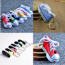 Shoes Keyrings Australia - 5Pcs Cute Mini Simulation Canvas Shoes Keyring  Keychain For Women Girl Souvenir 1b29d37c862d