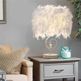 $enCountryForm.capitalKeyWord Australia - Feather Crystal Table Lamp Light with EU plug US UK AU Plug For Living Room Bedroom Bedside Home Lighting Art Blue Pink Desk Lam
