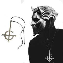 rock costumes Australia - Ghost Nameless Ghouls Necklace Cosplay Ghost B.C Rock Roll Band Costume Accessory Grucifix Papa Emeritus Patch Necklaces Jewelry