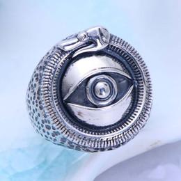 $enCountryForm.capitalKeyWord Australia - Rhodium Plated 925 Sterling Silver God Eye Design Retro Ring Western Style Jewelry for Men gift