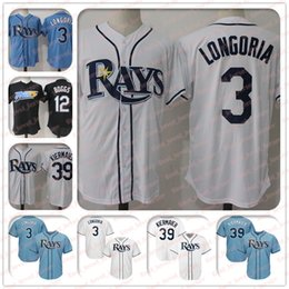 66021bc32 3 Evan Longoria Jersey 39 Kevin Kiermaier Jersey 12 Wade Boggs Tampa Bay  jerseys Rays Coolbase Jersey hot sale