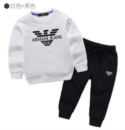 Sweater Coat Kids NZ - classic Luxury Logo Designer Baby t-shirt Pants coat jacekt hoodle sweater olde Suit Kids fashion Children's 2pcs Cotton Clothing Sets #15