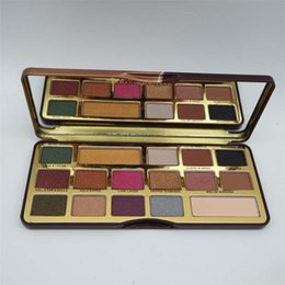 $enCountryForm.capitalKeyWord NZ - Brand New long-lasting Chocolate gold Eye shadow palette cosmetics 16 colors matte & shimmer colors easy to wear DHL Free Eyes makeup