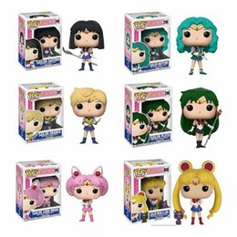 halloween sailor moon Australia - FUNKO POP Animation Sailor Moon Series Sailor Pluto Vinyl Action Figure With Box Toy Gift Doll Good Quality