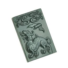 $enCountryForm.capitalKeyWord UK - Fine Jewelry 100% Pure Natural Hand Carved Green Jade Evil Amulet Spirits Unicorn Unicorn Lion Necklace Free Shipping