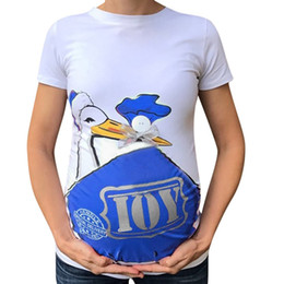 fe47984cd Women T-Shirt Maternity Cute Funny Pattern Print Short Sleeve Ladies Casual  T-shirt Pregnant Tops pregnancy Tee Shirts Modis BB3